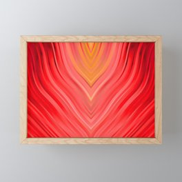 stripes wave pattern 3 dr Framed Mini Art Print