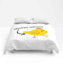 Humor and Funny: Guess What? Chicken Butt! Comforters