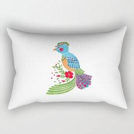 The Blue Quetzal Rectangular Pillow
