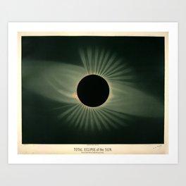 Total solar eclipse by Étienne Léopold Trouvelot (1878) Art Print