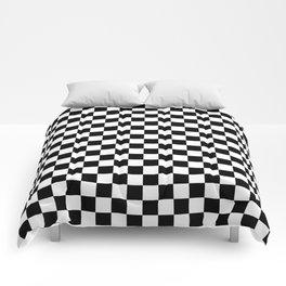 Black Checkerboard Pattern Comforters