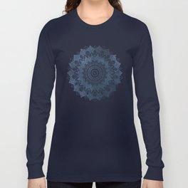 BOHOCHIC MANDALA IN BLUE Long Sleeve T-shirt