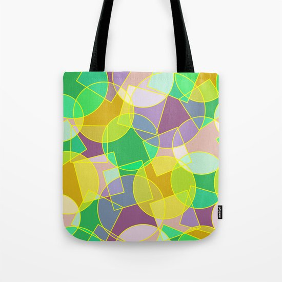 Colorful abstract geometric pattern Tote Bag