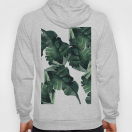 Banana Leaves Pattern Green Hoody