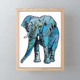 Artistic African Elephant Gift Save The Elephants Gift Framed Mini Art Print