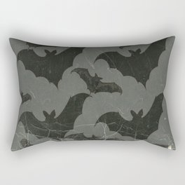ANTIQUE  SHABBY CHIC  BATS ART DESIGN Rectangular Pillow