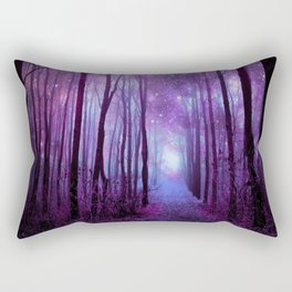 Fantasy Forest Path Purple Pink Rectangular Pillow
