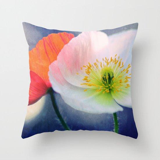 Evening Poppies Throw Pillow