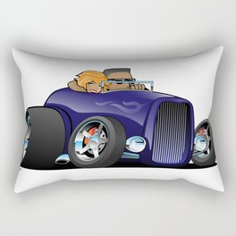 Highboy hot rod deep purple roadster with driver and cute passenger Rectangular Pillow