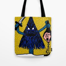 CLEVER-MEAN-EVERGREEN. Tote Bag