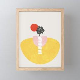 Modern shapes 5 Framed Mini Art Print