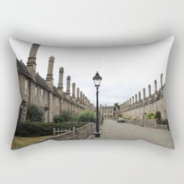 Wells Cathedral Classic/historic/old houses and side street in England Rectangular Pillow