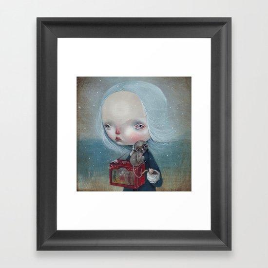 The sea is calm Framed Art Print