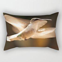 The Delight Of Hummingbird Wings Rectangular Pillow