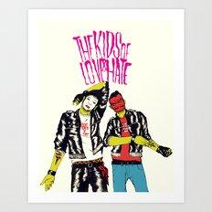 Kids of Love and Hate Art Print