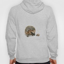 """Close Encounter"" painting of a Hedgehog and Snail by Teresa Thompson Hoody"