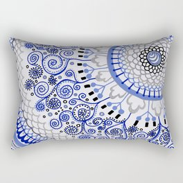 An Answer to the BLues Rectangular Pillow