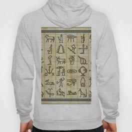 Ancient Egyptian Hieroglyphs on Papyrus Hoody