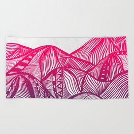 Lines in the mountains 05 Beach Towel