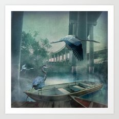 Morning in the Urban Marsh Art Print