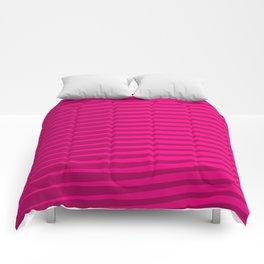 Funky Lines (Fuchsia/DarkMagenta) Comforters
