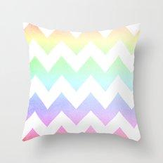 Watercolor Chevrons Throw Pillow