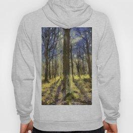 Peaceful Forest Van Gogh Hoody
