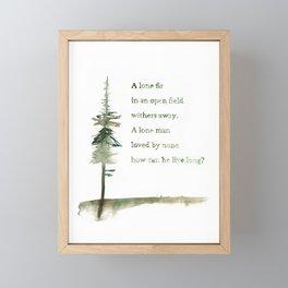 A Viking Proverb - Fir Tree Framed Mini Art Print