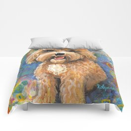 Golden Doodle by Robynne Comforters