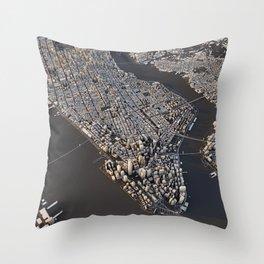 Manhattan - city map Throw Pillow
