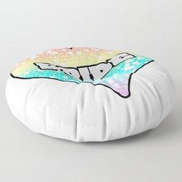 Pastel Pride Mosiac Filled Heart Graphic Design Floor Pillow