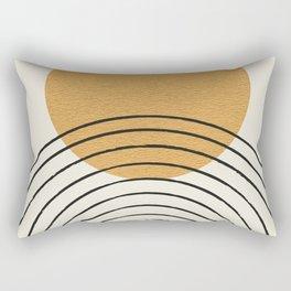Gold Sun rainbow mid-century full Rectangular Pillow