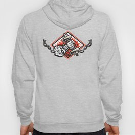Hand Bursting With Dumbbell In Chains Hoody