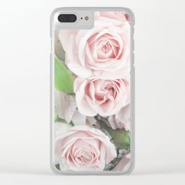 Pastel Pink Flowers Clear iPhone Case