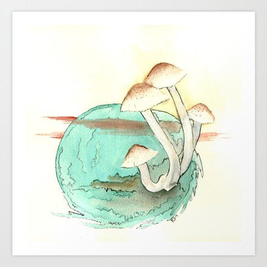 Mushroom Orb Art Print