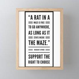 A Rat in a Maze Framed Mini Art Print