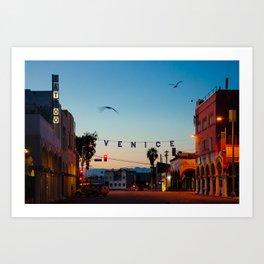 Venice Beach California Sunrise Art Print