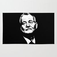 bill Area & Throw Rugs featuring Bill Murray by Laura Lindsey