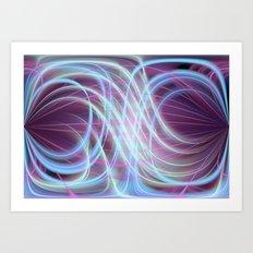 Lightlines softly Art Print