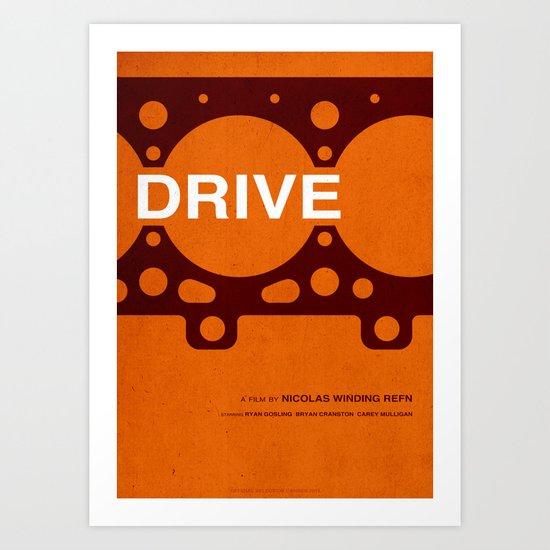 Drive - MINIMALIST POSTER Art Print