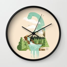 Lake monster - Bon Nûl Wall Clock