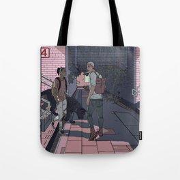 Subway Station Meetup Tote Bag