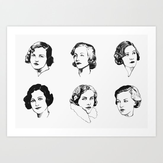 Mitford Sisters Art Print