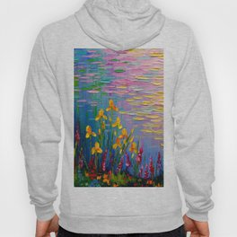 Flowers by the pond Hoody