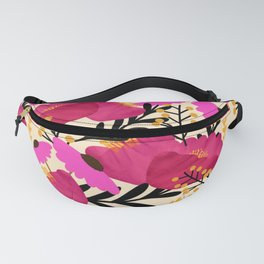 Vibrant Floral Wallpaper Fanny Pack