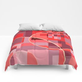 Abstract overlapping art Comforters
