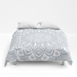 Cool Gray Mandala Simplistic Bold Minimal Minimalistic Comforters