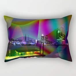 Hamburg at night Rectangular Pillow