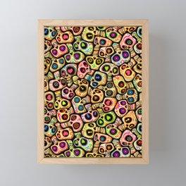 Calaveras del Día de los Muertos. Framed Mini Art Print