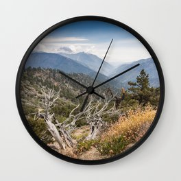 Inspiration Point along Pacific Crest Trail Wall Clock
